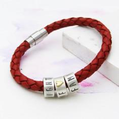 Personalised chunky hoop bracelet