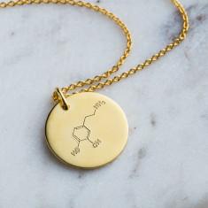 Personalised Love Molecule Necklace