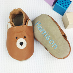 Personalised Bear Baby Shoes