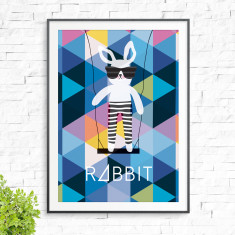 It's a rabbit swing print