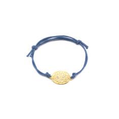 Blue mosaic bracelet