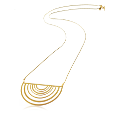 Dawn long necklace in silver or gold