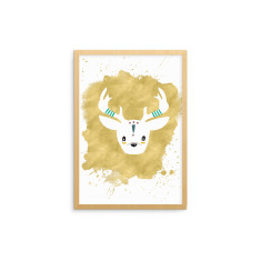 Tribal Animal Stag Fine Art Nursery Print