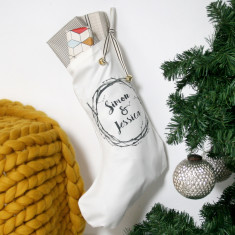 Personalised Couples Christmas Stocking