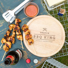 Men's Bbq King Personalised Chopping Board