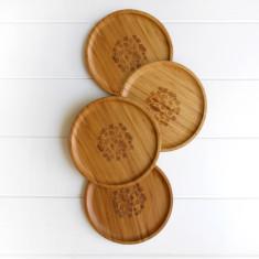 Side plates in Fern (set of 4)