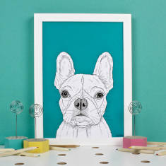 French bulldog dog portrait print