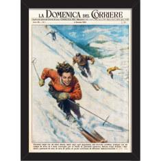 Vintage Snow Ski Print