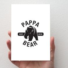 Pappa Bear Card