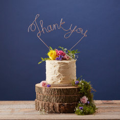 Copper Thank You Cake Topper