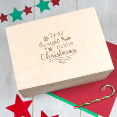 Engraved Wooden Christmas Eve Box