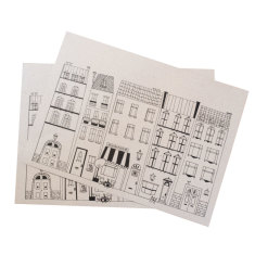 Printed paper placemats in houses print