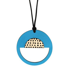 Spotted blue pendant