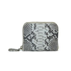 Natural motif python leather card & coin wallet