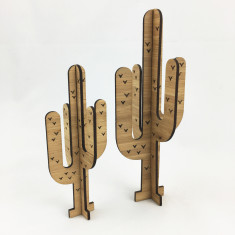 Set of 2 bamboo cactus trees