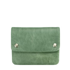 Norma leather wallet in green