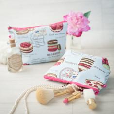 Patisserie Macaron Baking Makeup Toiletry Wash Bag