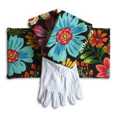 Gardeners kneeling pad & gloves in magic garden