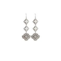 Goddess Hanging Earrings in Sterling Silver