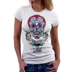 Day of the living white women's t-shirt