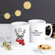 Personalised 'Santapaws' Christmas Mug