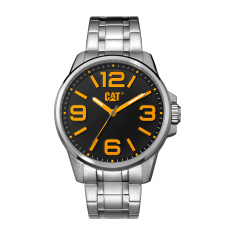 CAT Hampton series watch in Steel with Black / Yellow face