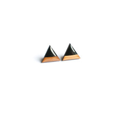 Hand painted triangle earrings (various colours)