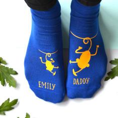 Personalised Cheeky Monkey Daddy Socks