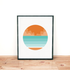 Beach seascape limited edition giclee print