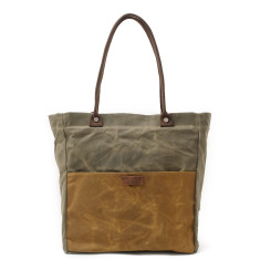 Canvas Waterproof Tote/Shopping Bag Green