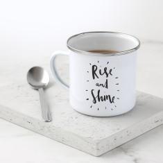 Rise and Shine Enamel Mug