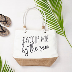 Catch Me By The Sea Beach Bag
