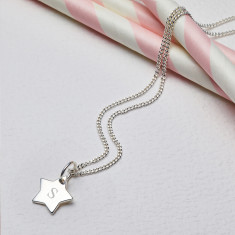 Personalised Sterling Silver Little Wish Star Necklace