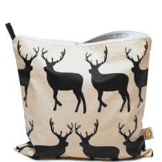 Kissing Stags Extra Large Cosmetic Toiletry Bag