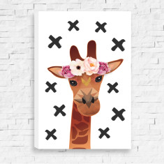 Miss Giraffe Canvas