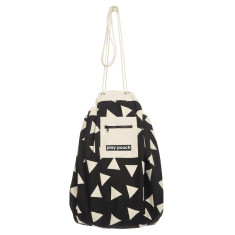 Triangles printed play pouch