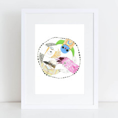 Circle of Friends, Australian Birds Fine Art Print