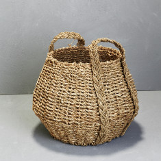 Seagrass angular basket with handles