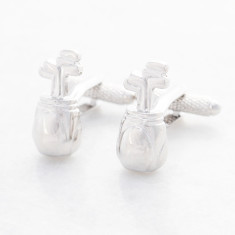 Golf clubs stainless steel cufflinks