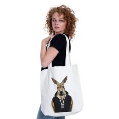 Kangaroo canvas tote