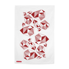 Pattern Play Kitchen Tea Towel in Baby Pink or Fuchsia