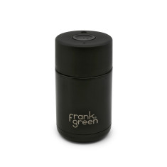 Frank Green Stainless Steel Smart Cup 10oz - Black / Black / Black Coffee Cup