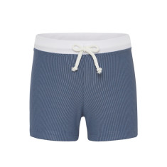 Euro swim shorts in Navy Marle