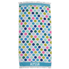 Personalised Beach Towel - Spotty