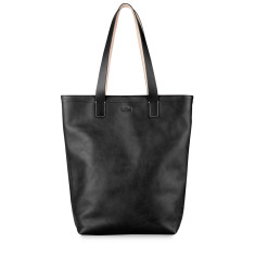 Leather Shopper Tote Bag With Notebook Compartment