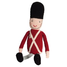 Soldier Knitted Doll