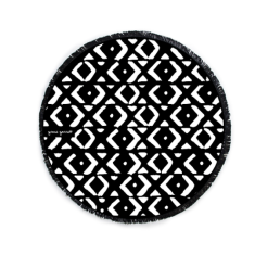 Mud Cloth Large Luxury Round Beach Towel