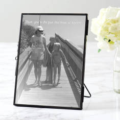 Personalised Black Edged Photo Frame For Mum