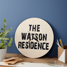Personalised Residence Clock