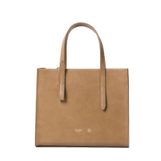 Tan Leather Tote And Office Purse